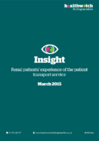 Insight Report – 2015 – Renal patients' experience of the patient transport service