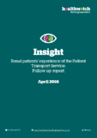 Insight Report – 2016 – Renal patients' experiences of the patient transport service (Follow up report)