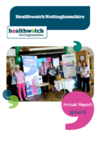 Healthwatch Nottinghamshire – Annual Report 2014-15