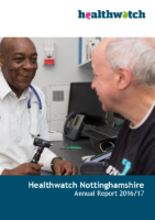 Healthwatch Nottinghamshire – Annual Report 2016-17