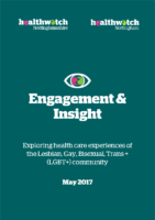 Insight Report – 2017 – Exploring health care experiences of the Lesbian, Gay, Bisexual, Trans + (LGBT+) community