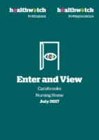 Enter and View Report – July 2017 – Carisbrooke Nursing Home
