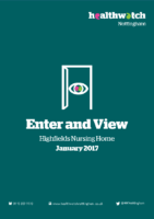 Enter and View Report – January 2017 – Highfields Nursing Home