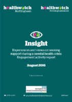 Experiences and views on seeking support during a mental health crisis – Engagement activity report