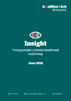 Insight report – YP mental health and well-being