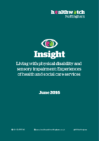 HW Insight Report – Living with physical & sensory impairment